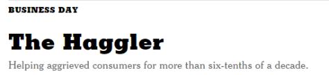 Haggler defn