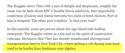 Haggler re Algebra highlighted