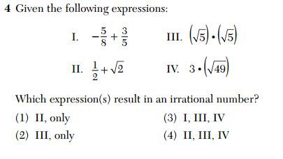 Jan 2016 Algebra I 4