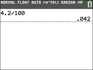 percent to decimal
