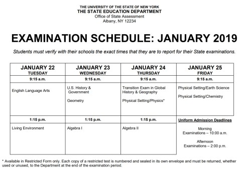 regents exam sked 0119